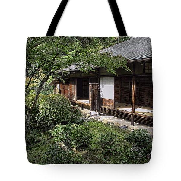 Koto-in Zen Tea House And Garden - Kyoto Japan Tote Bag by Daniel Hagerman