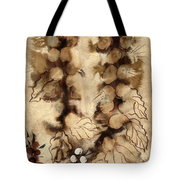 Kotsim Thorny Desert Plants In Brown Flowers Leaves Monochrome White   Tote Bag by Rachel Hershkovitz