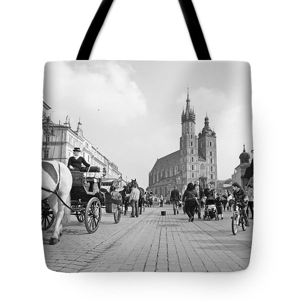 Krakow Carriages Tote Bag by Robert Lacy