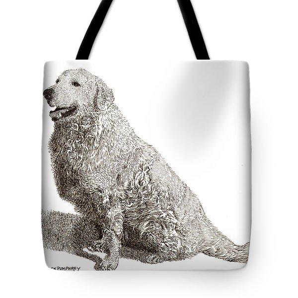 Kuvasz Named Pax Tote Bag by Jack Pumphrey