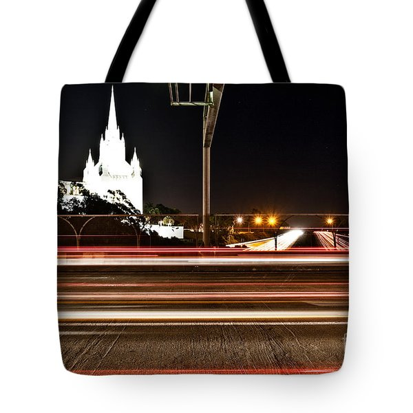 Tote Bag featuring the photograph La Jolla Night by Sonny Marcyan