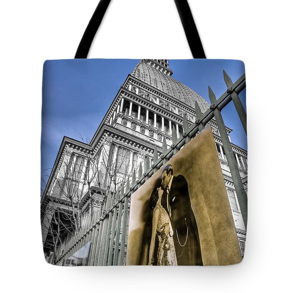 Tote Bag featuring the photograph La Mole Antonelliana by Sonny Marcyan