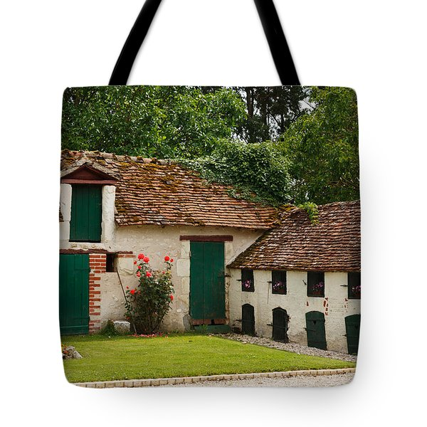 La Pillebourdiere Old Farm Outbuildings In The Loire Valley Tote Bag by Louise Heusinkveld