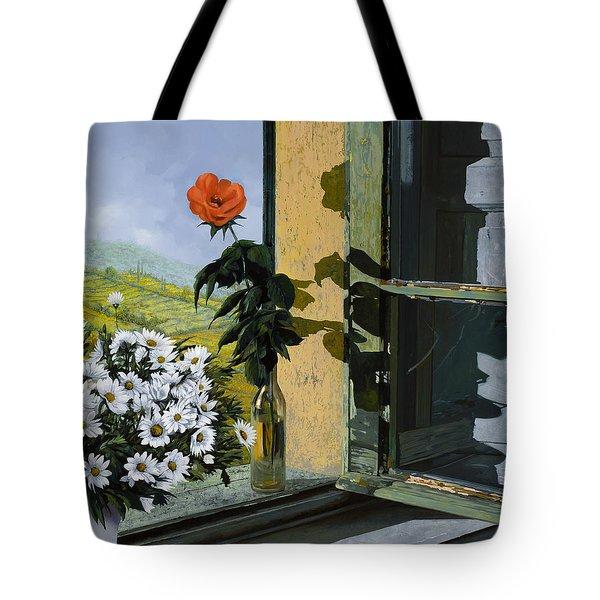 La Rosa Alla Finestra Tote Bag by Guido Borelli