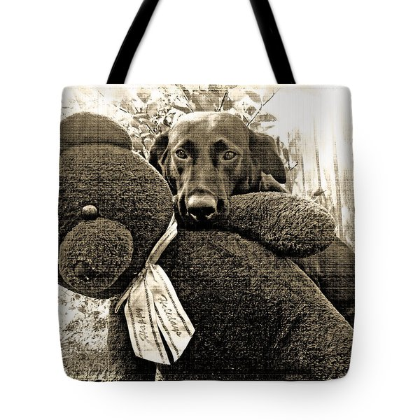 Labrador And Holiday Teddy Tote Bag