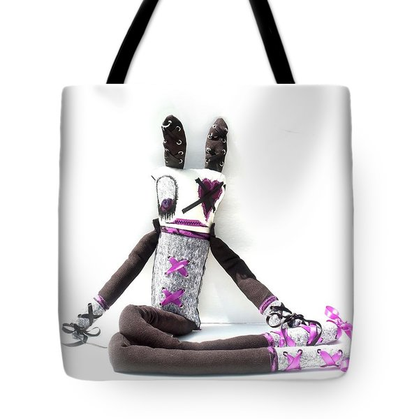 Lacey The Gothic Zombie Lolita  Tote Bag by Oddball Art Co by Lizzy Love