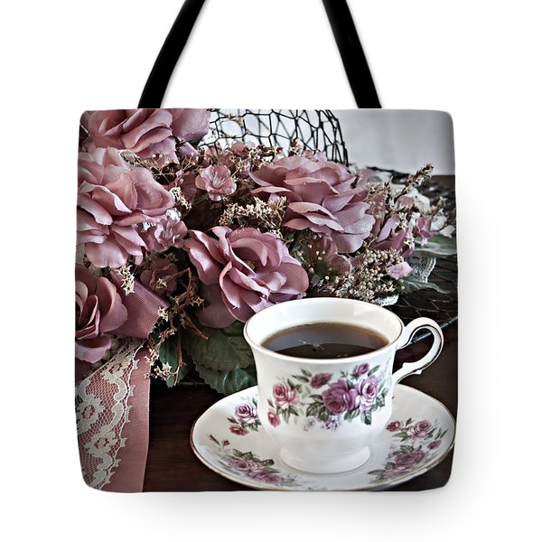 Ladies Tea Time Tote Bag