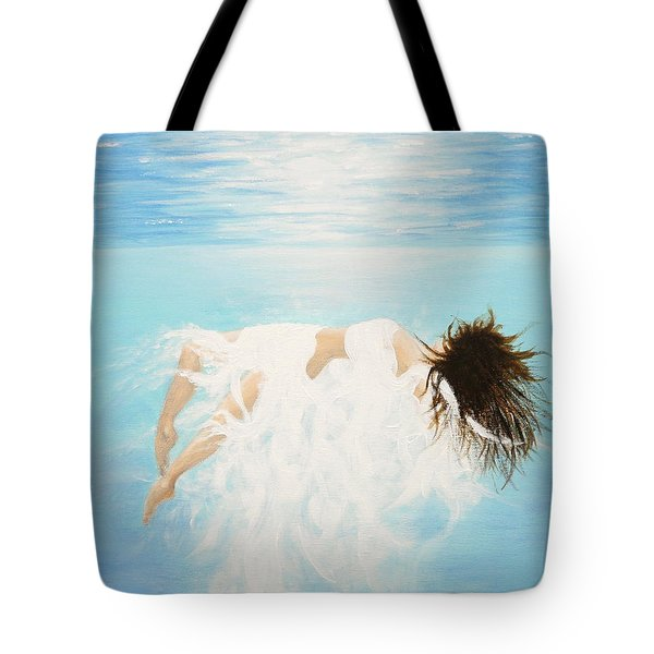Tote Bag featuring the painting Lady Of The Water by Kume Bryant
