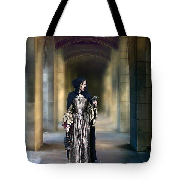 Lady With Bird Tote Bag by Jill Battaglia