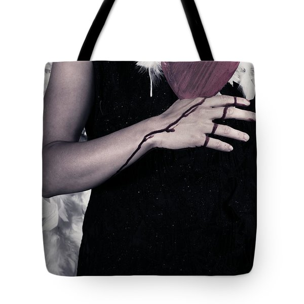 Lady With Blood And Heart Tote Bag