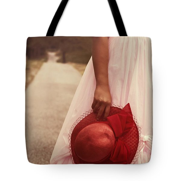 Lady With Hat Tote Bag by Joana Kruse