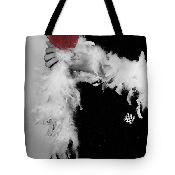 Lady With Heart Tote Bag