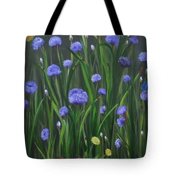 Ladybug Lunch Tote Bag by Carol Sweetwood