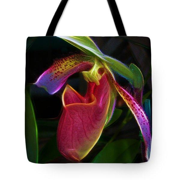 Lady's Slipper Tote Bag by Judi Bagwell