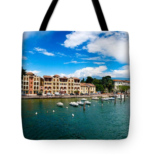 Lago Di Garda In Italy In Early Spring  Tote Bag by Ulrich Schade