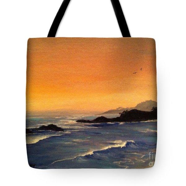 Laguna Sunset Tote Bag by Barbara Gilroy