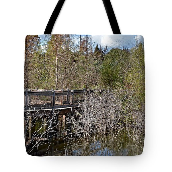 Lake Bonny Boardwalk Tote Bag