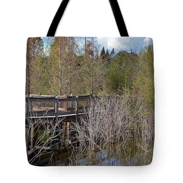 Lake Bonny Boardwalk Tote Bag by Carol  Bradley