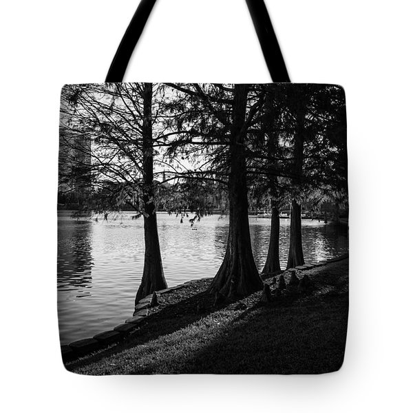 Lake Eola Water Edge Tote Bag by Lynn Palmer