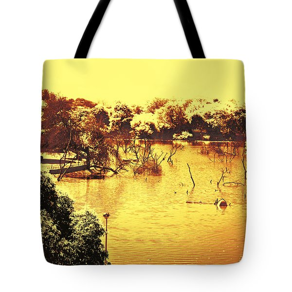 Lake In India Tote Bag