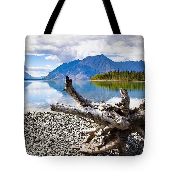 Lake Kathleen In Kluane National Park Tote Bag by Blake Kent