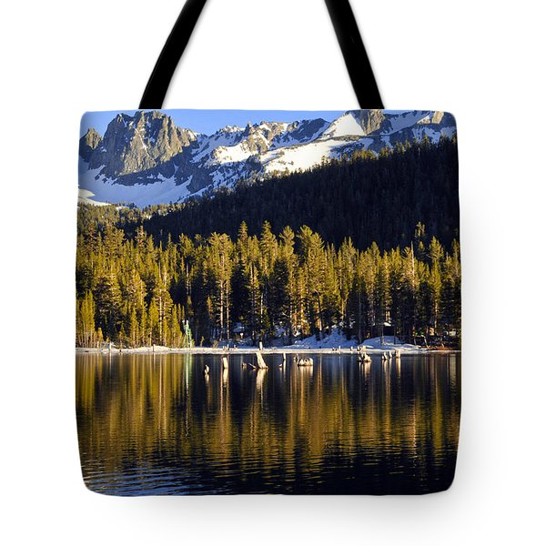 Tote Bag featuring the photograph Lake Mary Reflections by Lynn Bauer