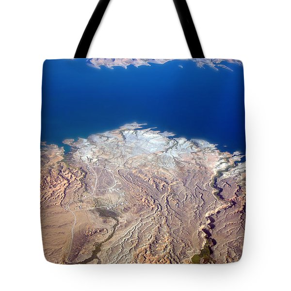 Lake Mead Nevada Aerial Tote Bag by James BO  Insogna