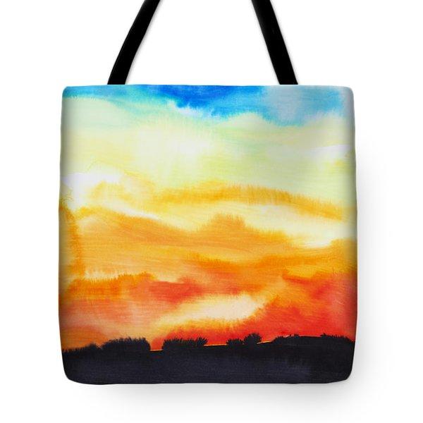 Lake Of Fire Tote Bag by Tara Thelen