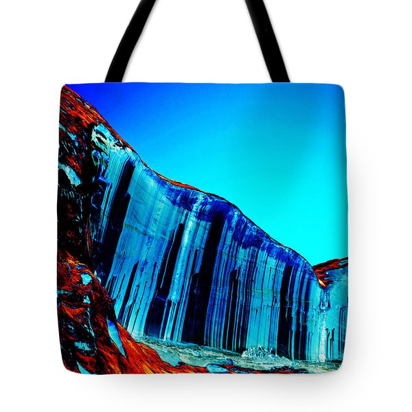 Lake Powell Blue Ice Tote Bag by Rebecca Margraf