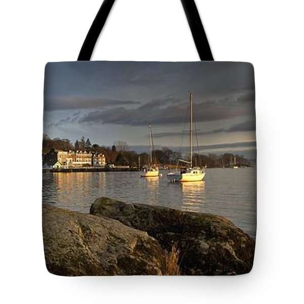 Tote Bag featuring the photograph Lake Windermere Ambleside, Cumbria by John Short