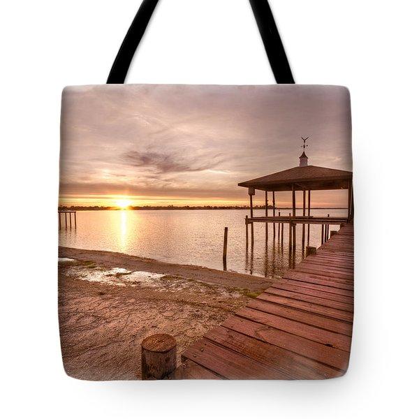 Lakeside Tote Bag by Debra and Dave Vanderlaan