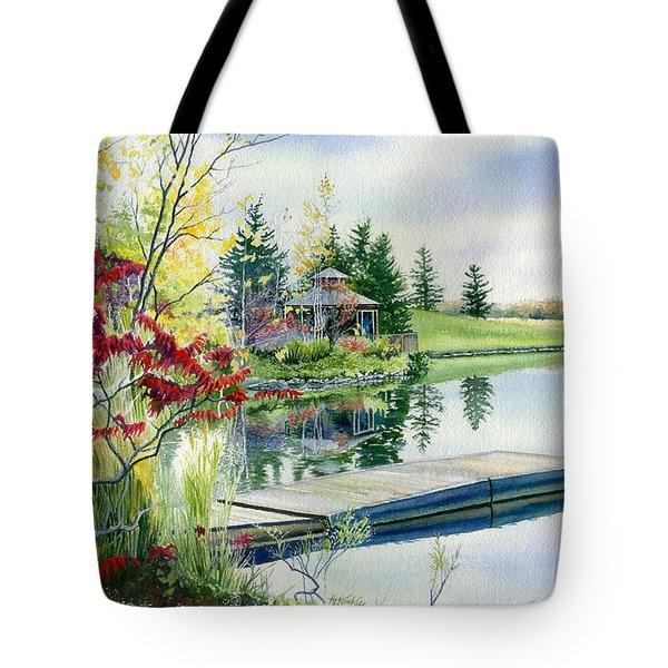Lakeside Gazebo Tote Bag by Hanne Lore Koehler