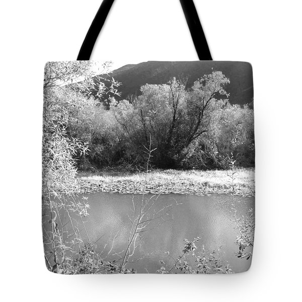 Lakeside Mountain View Tote Bag by Kathleen Grace