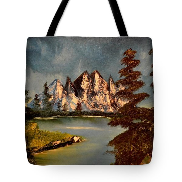 Tote Bag featuring the painting Lakeview by Maria Urso