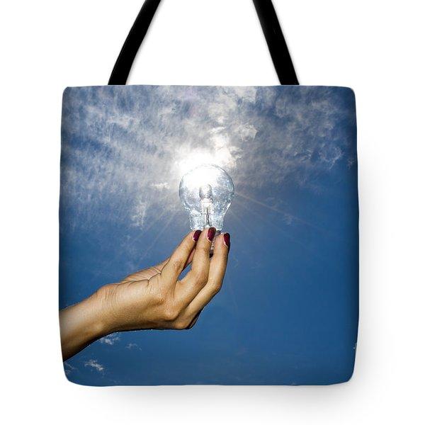 Lamp Bulb Tote Bag