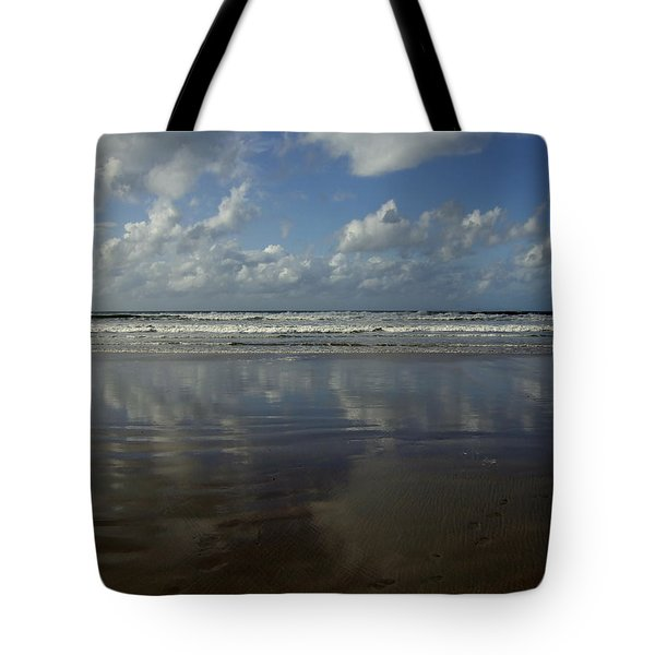 Tote Bag featuring the photograph Land Sea Sky by Lynn Hughes