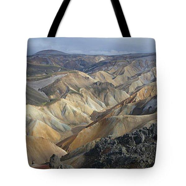 Landmannalaugar Panorama 1 Tote Bag by Rudi Prott