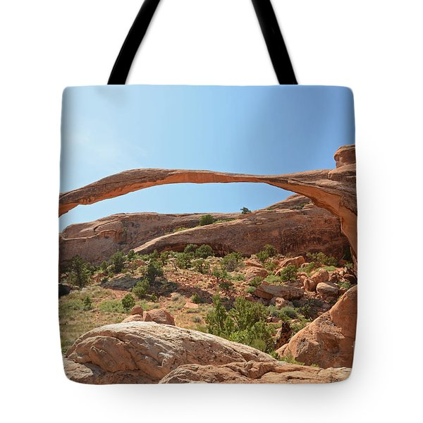 Landscape Arch Tote Bag by Cassie Marie Photography
