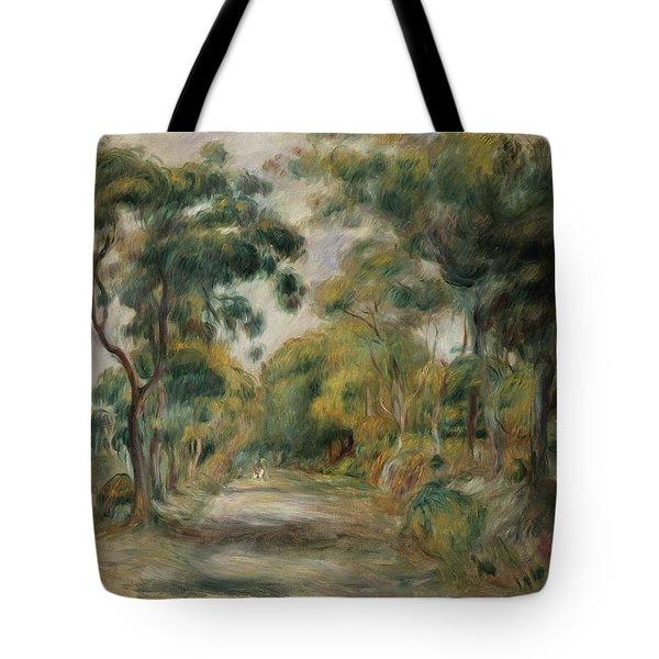 Landscape At Noon Tote Bag by  Pierre Auguste Renoir