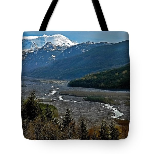 Tote Bag featuring the photograph Landscape Of Mount St. Helens Volcano Washington State Art Prints by Valerie Garner