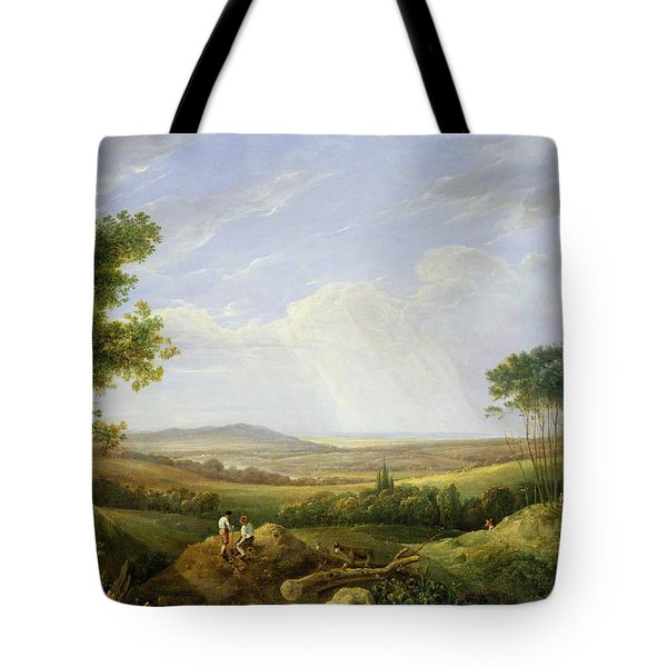 Landscape With Figures  Tote Bag by Captain Thomas Hastings