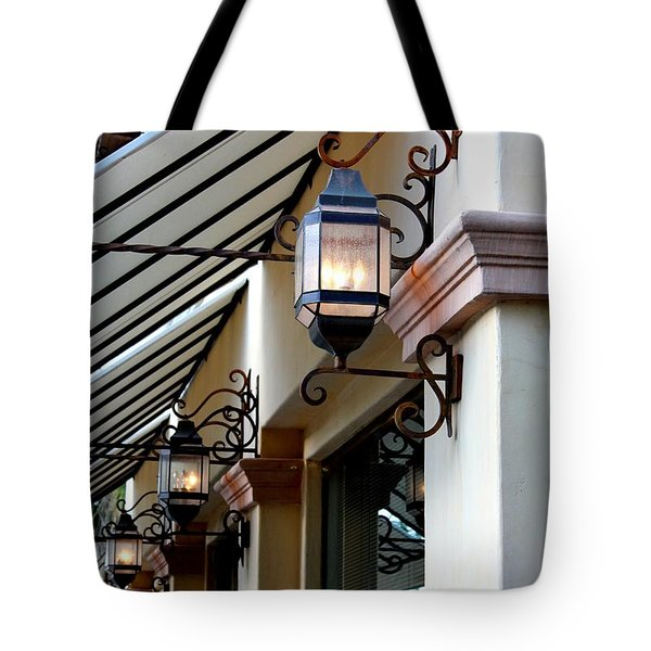 Lanterns And Lines Tote Bag