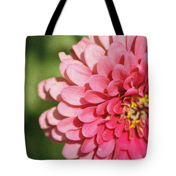 Tote Bag featuring the photograph Large Pink Zinnia by Donna  Smith