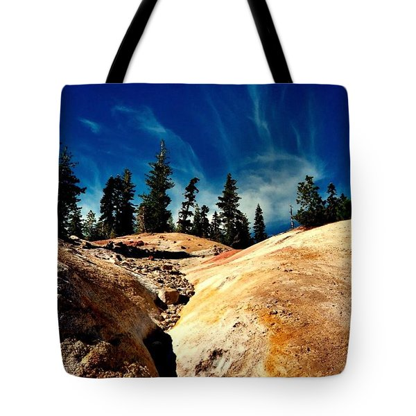 Lassen Volcanic National Park Tote Bag by Peter Mooyman