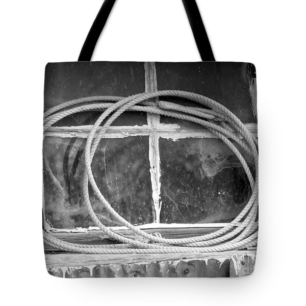 Tote Bag featuring the photograph Lasso In The Window  by Deniece Platt