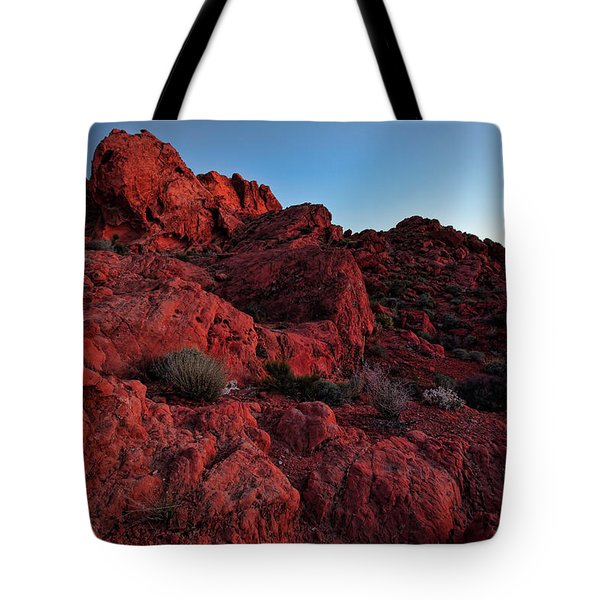 Last Light In Valley Of Fire Tote Bag