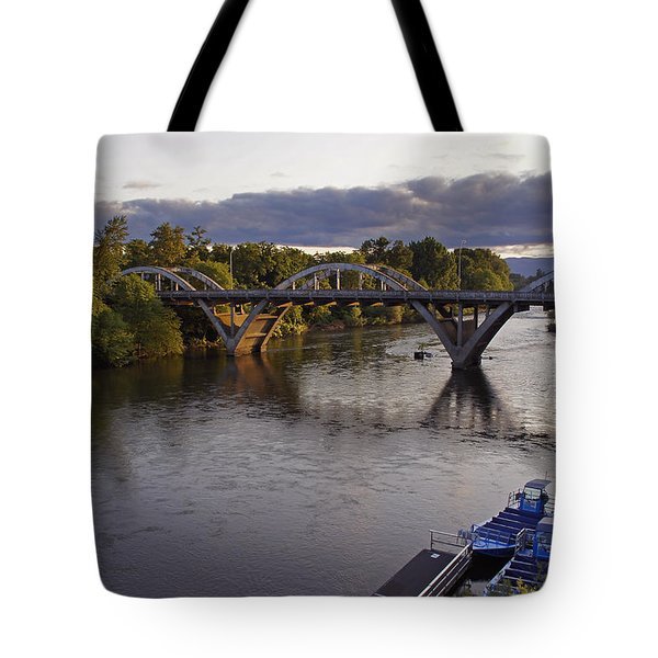 Last Light On Caveman Bridge Tote Bag