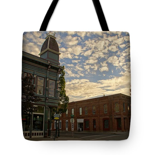 Late Afternoon At The Corner Of 5th And G Tote Bag