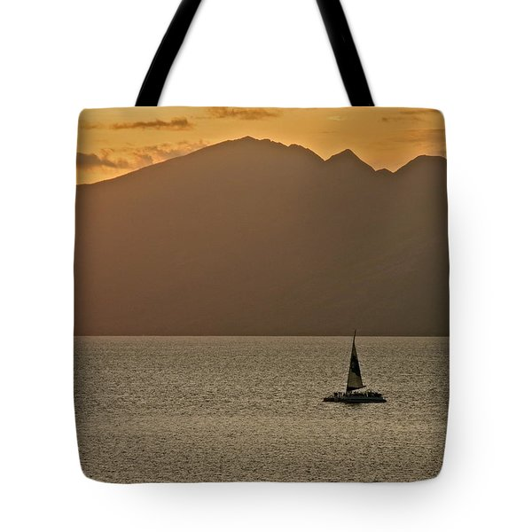 Late Afternoon Cruise In The Paniolo Channel Tote Bag by Kirsten Giving