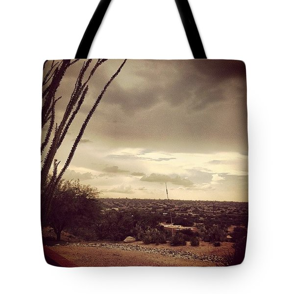 Late Day Storm Tote Bag
